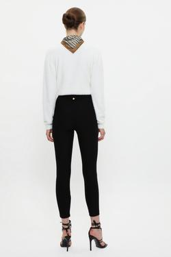 Paçası Fermuarlı Tayt Pantolon