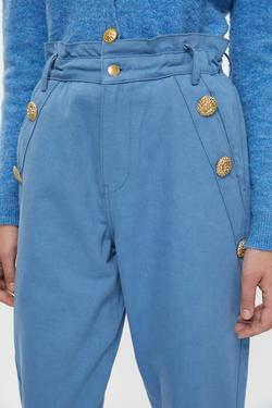 Cepleri Düğme Detaylı  Pantolon