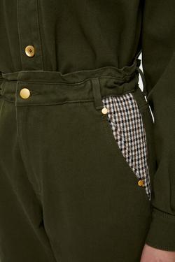 Beli Lastikli Ekose Garnili  Pantolon
