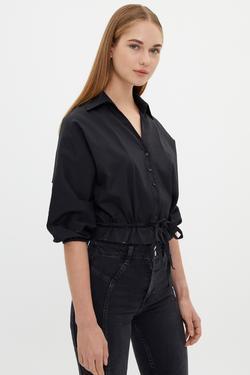 Beli Ayarlanabilir Bağlamalı Gömlek